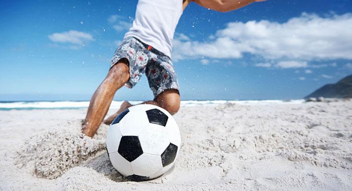 砂場サッカー